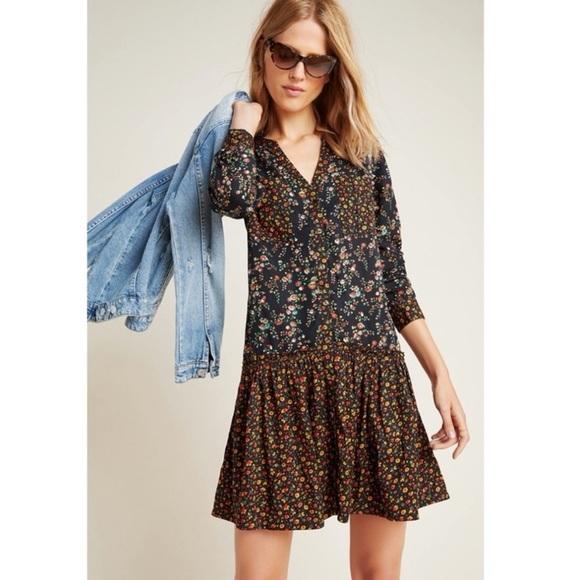 Maeve Marlie Floral Dress Anthropologie NWT